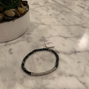 Lia Sophia Small Hematite & Crystal Bracelet